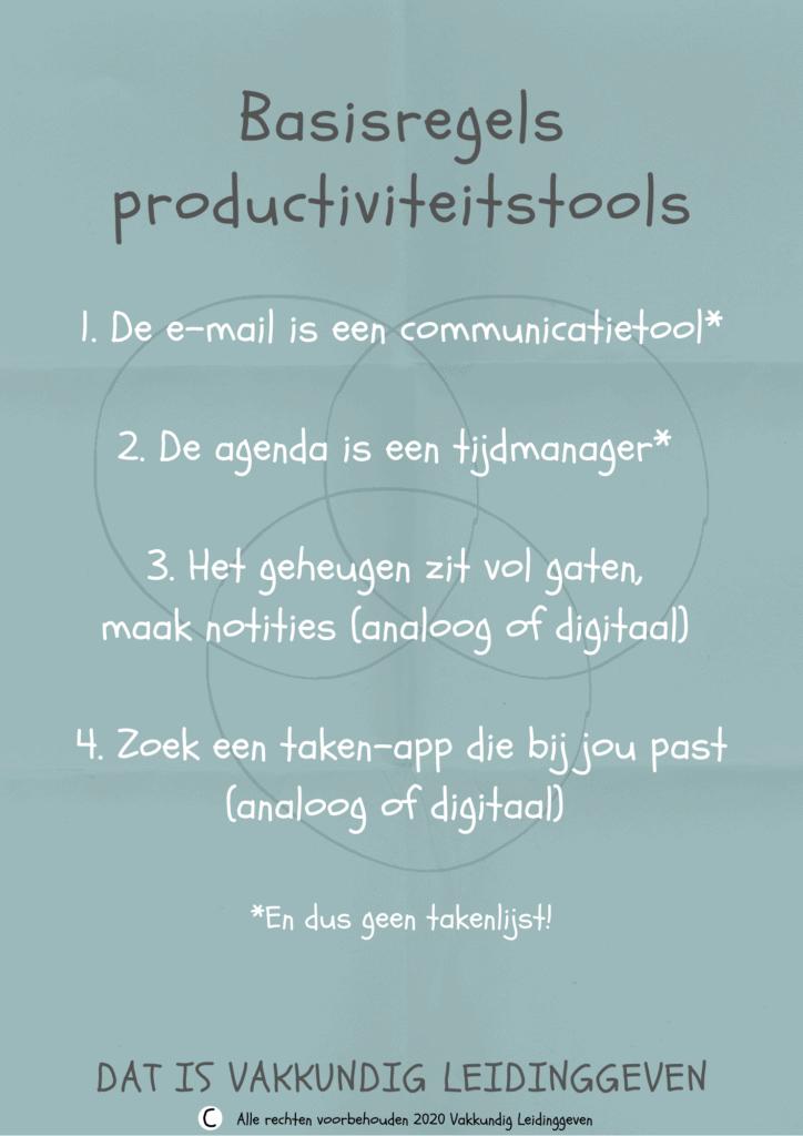 Basisregels productiviteitstools